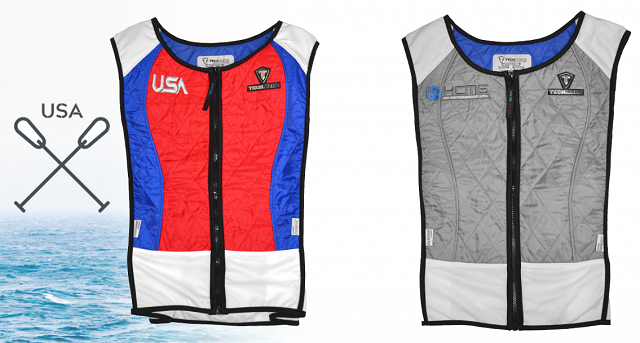 USA Rowing Vest and KCMG Vest