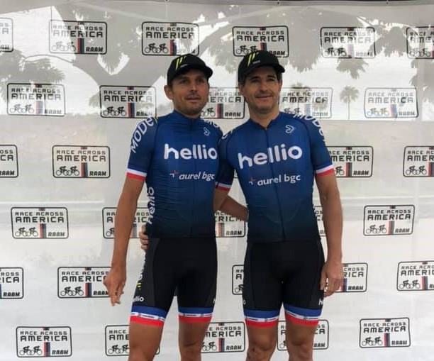 Cyclist Duo Using TechNiche Vests while competing in the Race Across America (RAAM)