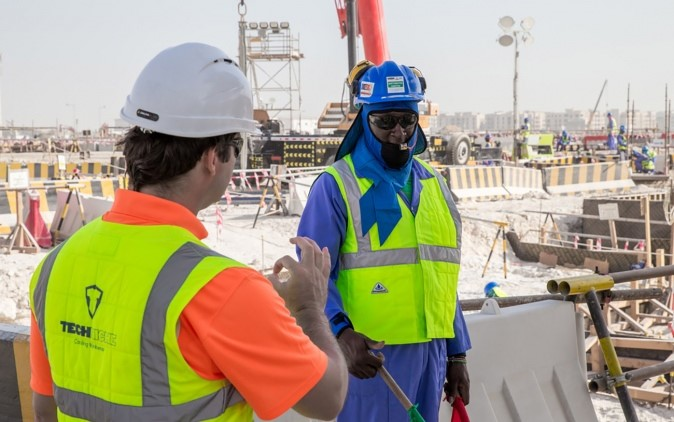 Supreme Coucil's Innovative Cooling Apparel Hailed by Lusail Stadium Construction Workers